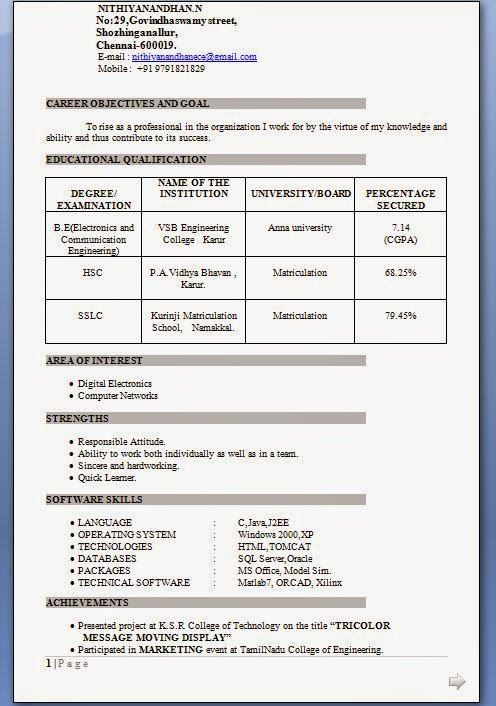 best resume of electronics and communication engineer fresher great in engineering Resume Resume Samples For Fresher Aeronautical Engineers