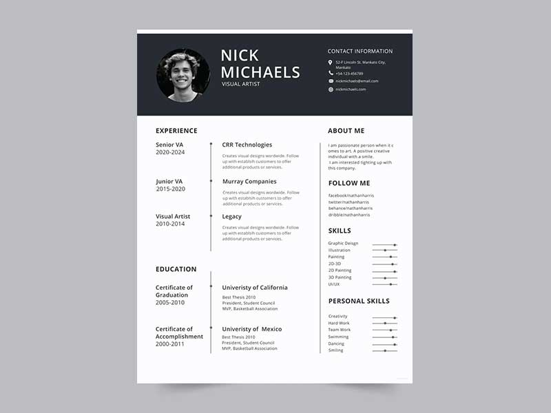 best resume template free graphicslot photoshop templates uber on golf caddy Resume Free Resume Photoshop Templates