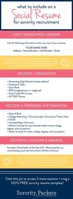 best sorority resumes social for recruitment images in resume template life college Resume Sorority Social Resume Template