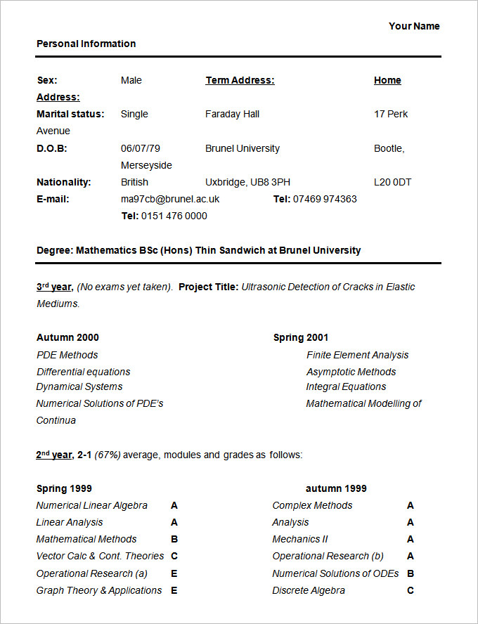 best student sample resume templates wisestep format for bsc students cable technician Resume Resume Format For Bsc Students