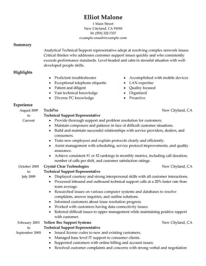 best technical support resume example livecareer representative computers technology Resume Technical Support Representative Resume