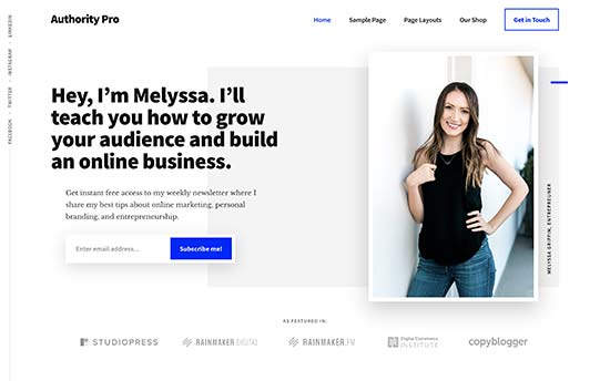 best wordpress resume themes for your cv free authoritypro professional modern template Resume Best Free Wordpress Resume Themes