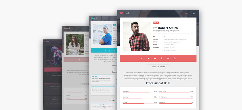best wordpress resume themes for your personal website free premium theme designs cater Resume Best Free Wordpress Resume Themes