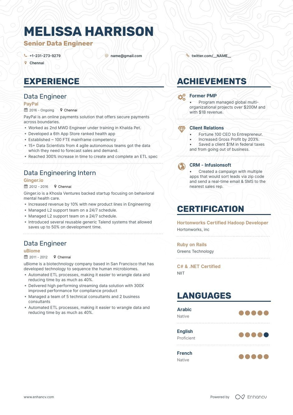 big data engineer resume examples and writing guide scientist design creative science Resume Data Science Engineer Resume