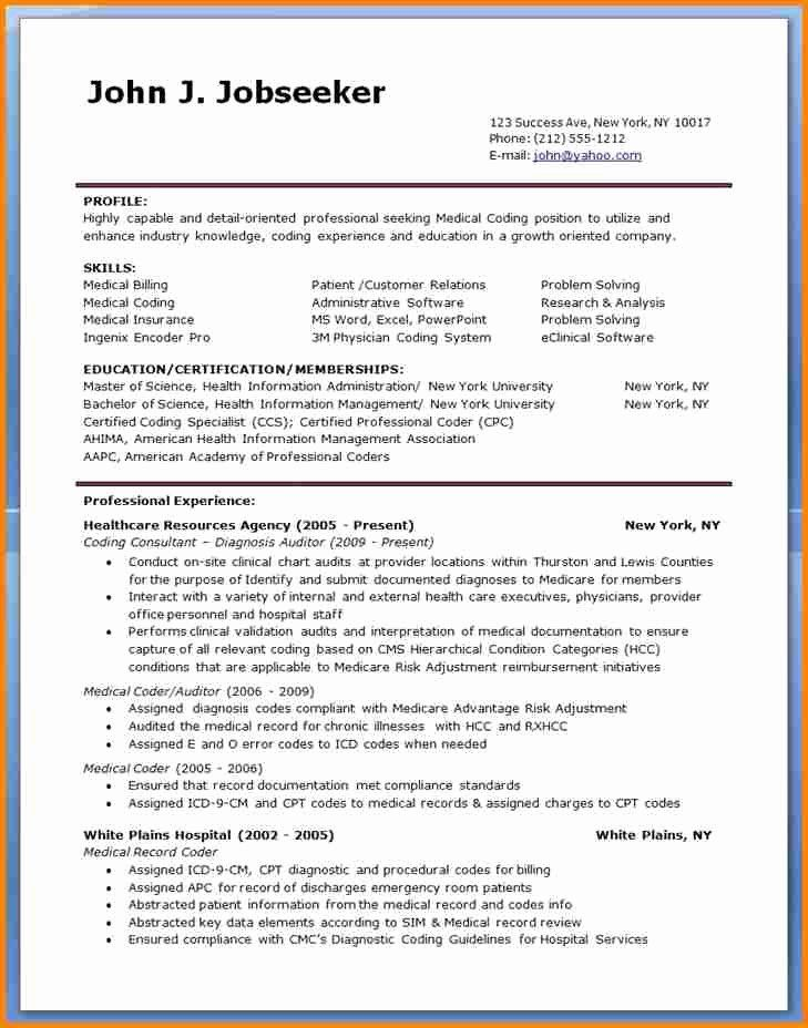billing and coding resume new sample for medical specialist jobs objective statement Resume Sample Resume For Medical Coding Specialist