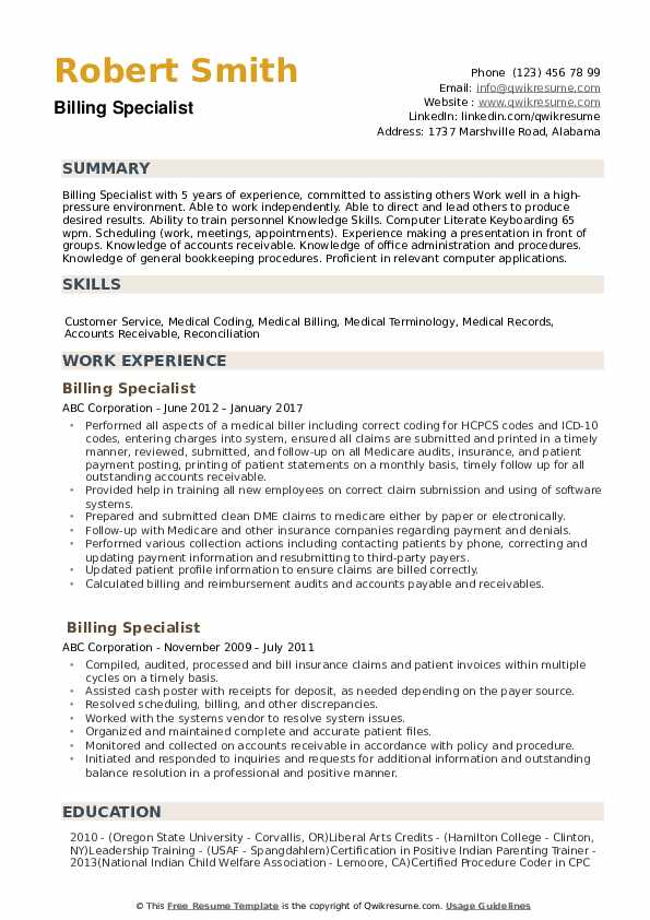 billing specialist resume samples qwikresume medical pdf atypical crm consultant aircraft Resume Medical Billing Specialist Resume