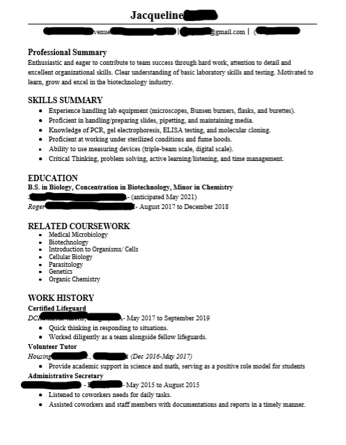 biology biotechnology resume have rearranged many times but still do not feel as if it is Resume Biotechnology Skills For Resume