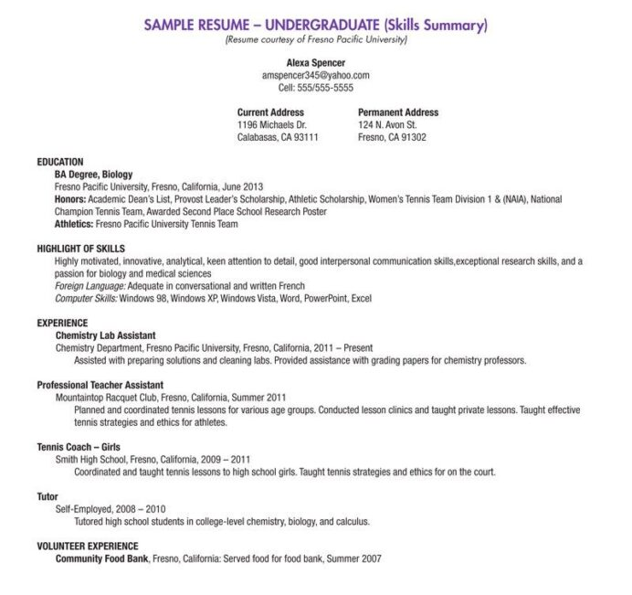blank resume templates for high school students student template college summer job Resume High School Student Summer Job Resume Examples