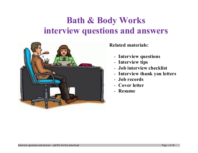 body works interview questions and answers job description for resume file7 phpapp02 Resume Bath And Body Works Job Description For Resume