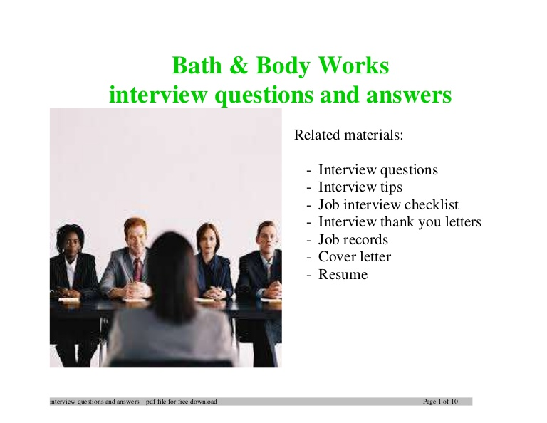 body works interview questions and answers job description for resume Resume Bath And Body Works Job Description For Resume