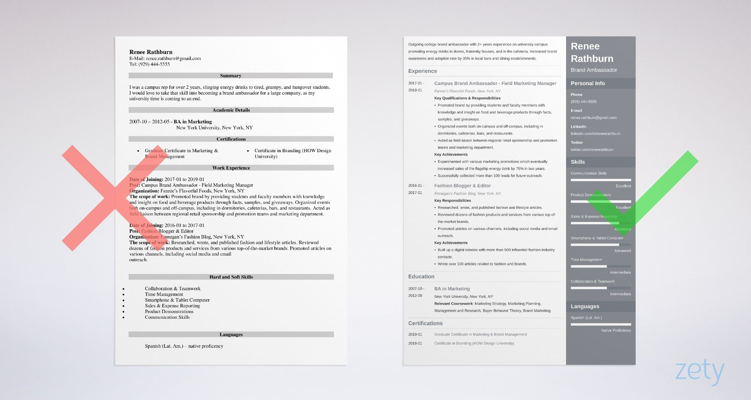 brand ambassador resume examples with skills and duties branding statement example first Resume Resume Branding Statement Examples