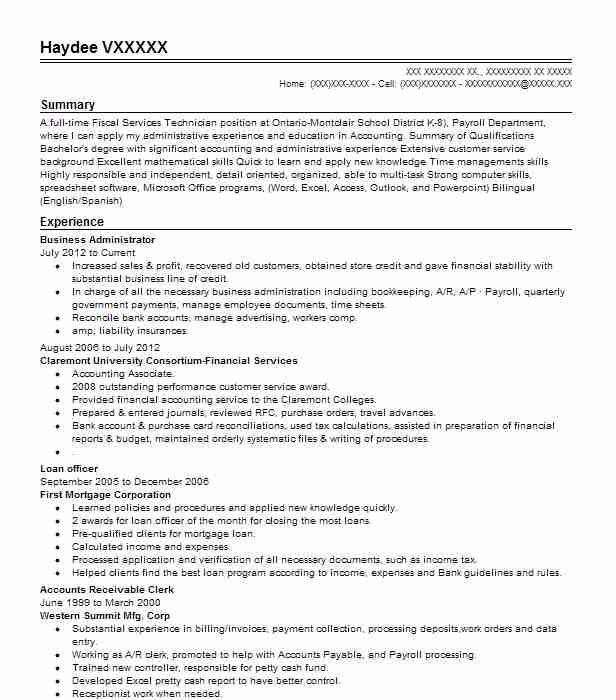 business administrator resume example livecareer administration objective entry level Resume Business Administration Objective Resume