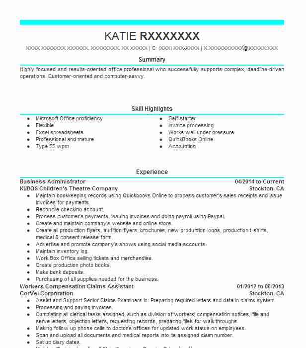 business administrator resume example livecareer administration objective journeyman Resume Business Administration Objective Resume