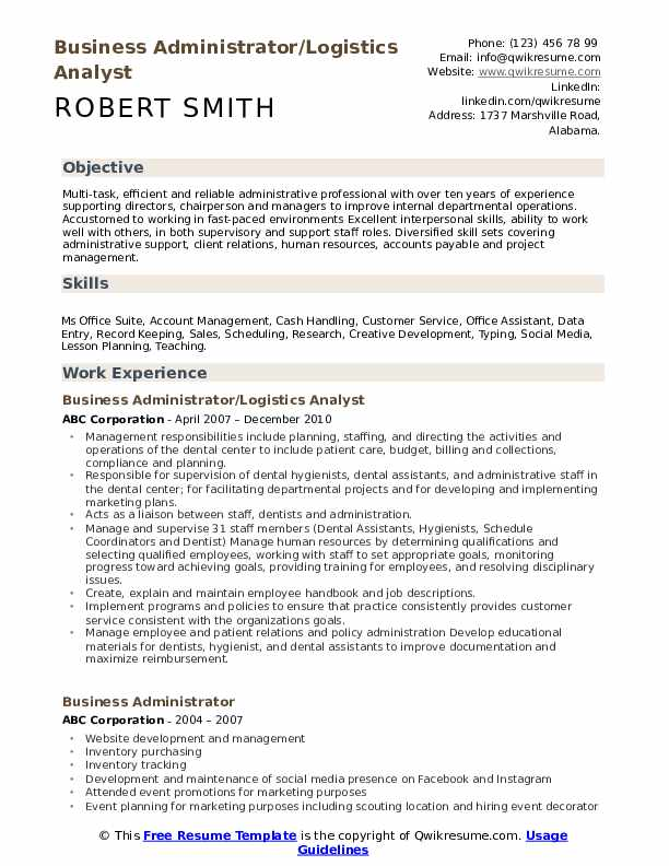 business administrator resume samples qwikresume administration objective pdf example Resume Business Administration Objective Resume