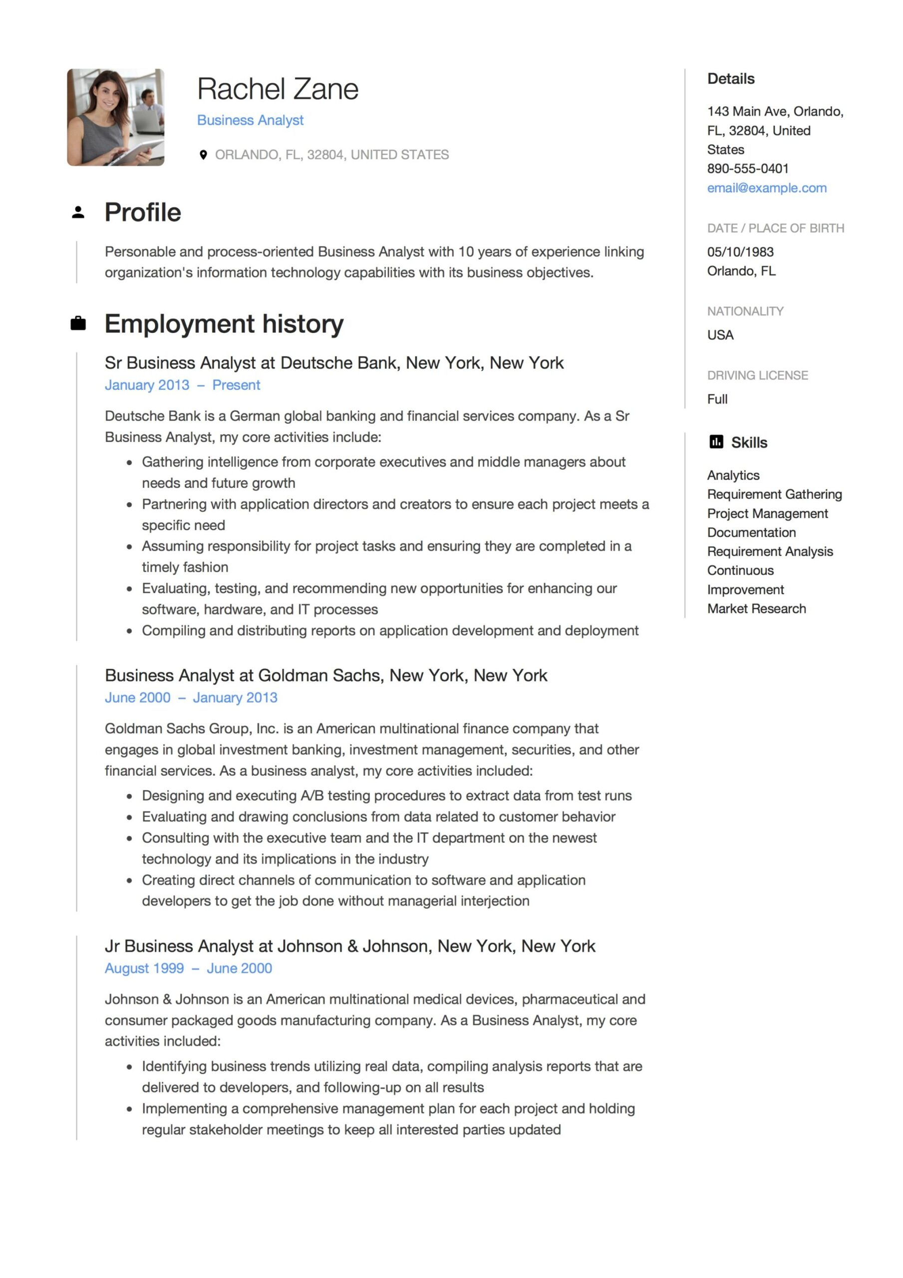 business analyst resume guide templates pdf free downloads examples culverhouse template Resume Analyst Resume Examples