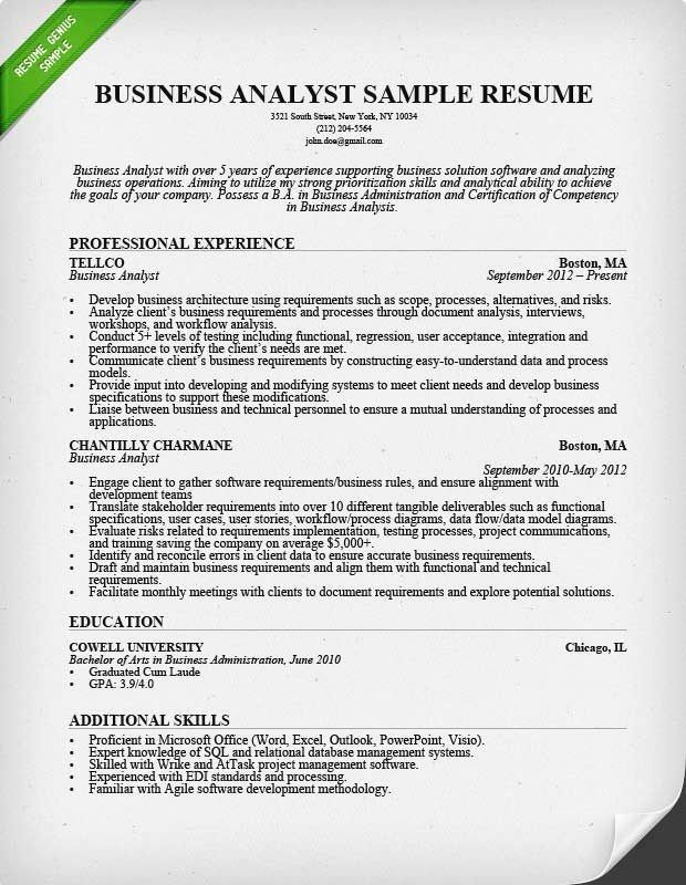 business analyst resume sample monster writing guide template tips simple for customer Resume Monster Resume Writing Tips