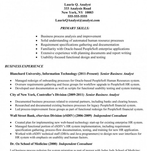 business analyst resume tips and samples human resources sample cerner pmo fresher Resume Human Resources Analyst Resume