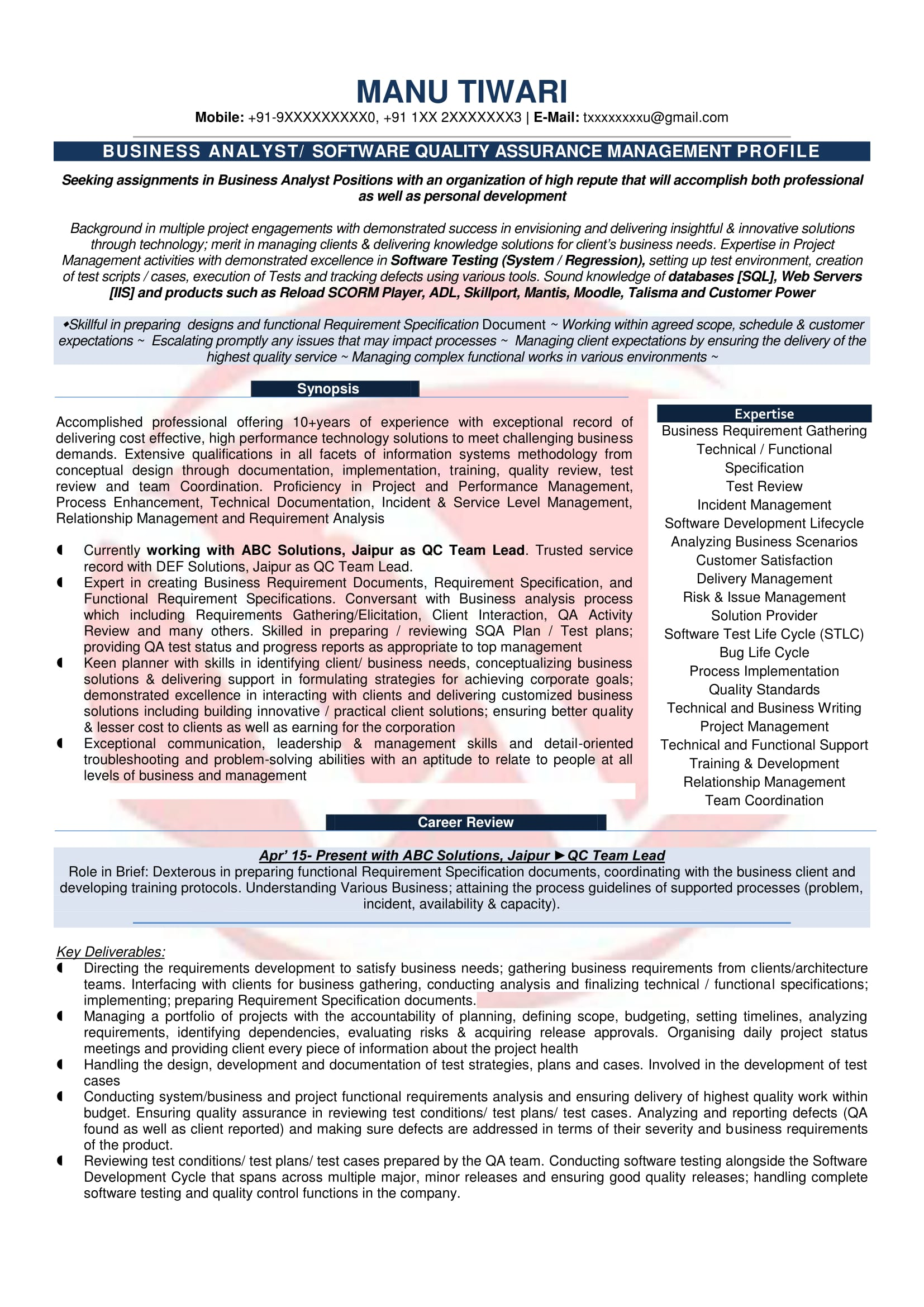business analyst sample resumes resume format templates information technology stna cover Resume Information Technology Business Analyst Resume Sample
