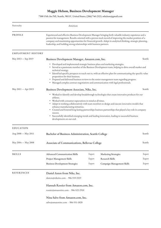 business development manager resume examples writing tips free guide io communication Resume Business Communication Resume Example