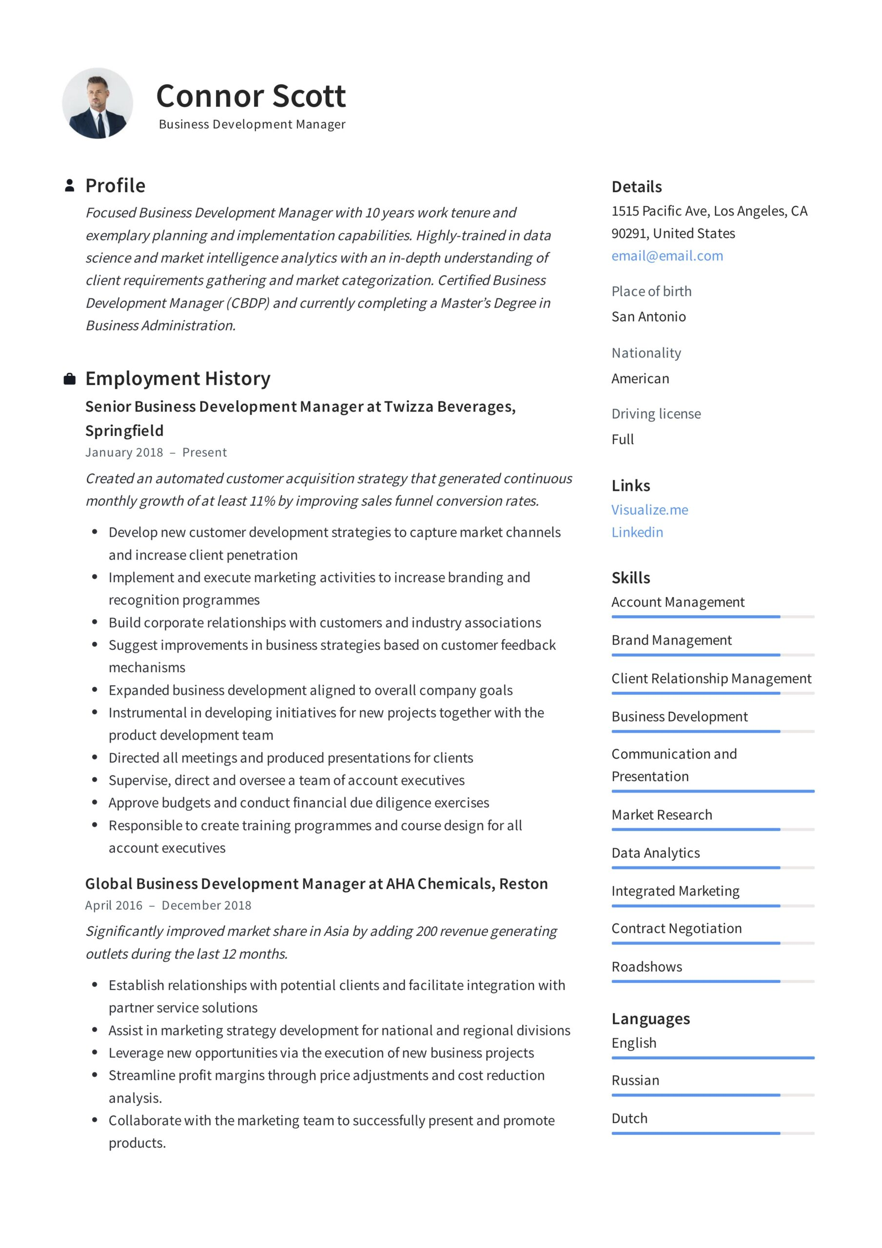 business development manager resume guide templates pdf sending email career summary Resume Business Development Manager Resume