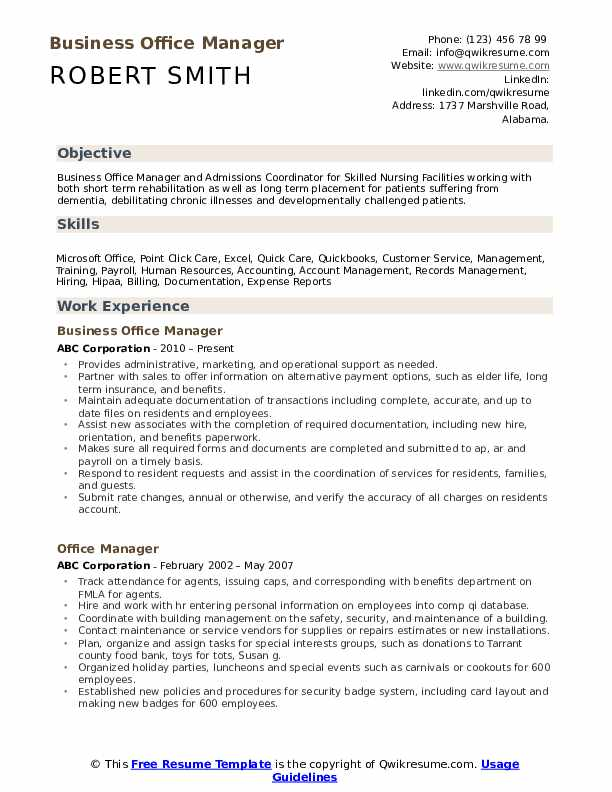 business office manager resume samples qwikresume sample pdf rn cover letter examples Resume Business Office Manager Resume Sample