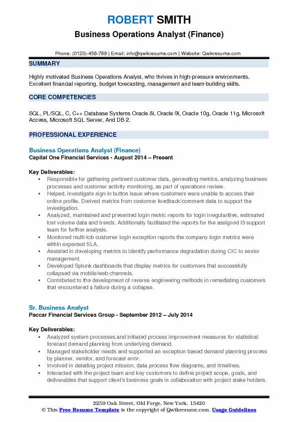 business operations analyst resume samples qwikresume best pdf elements of writing Resume Best Operations Analyst Resume