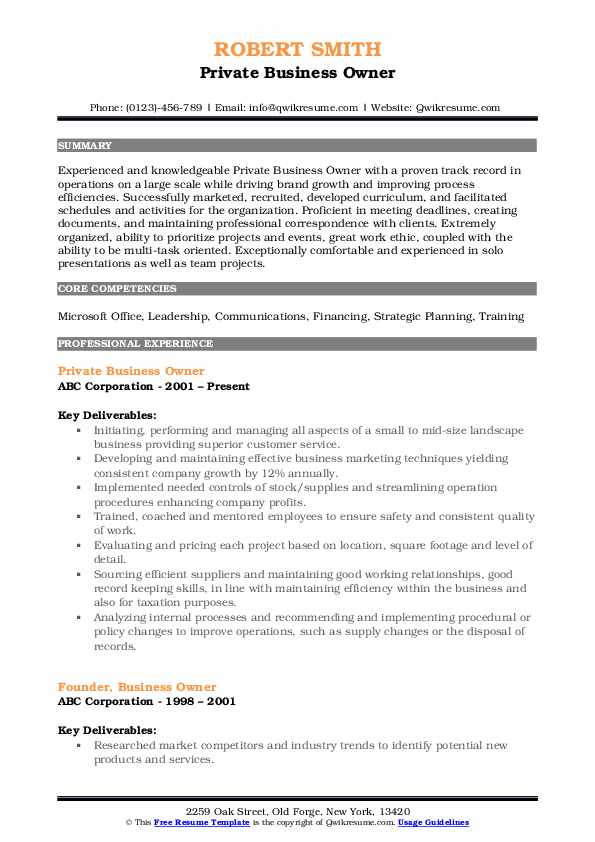 business owner resume samples qwikresume for owning your own pdf lecturer sample Resume Resume For Owning Your Own Business