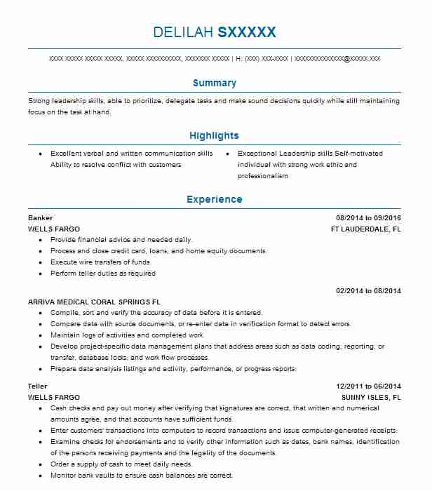 by banking resume examples format good computer science theater manager driver sample Resume Banking Resume Examples