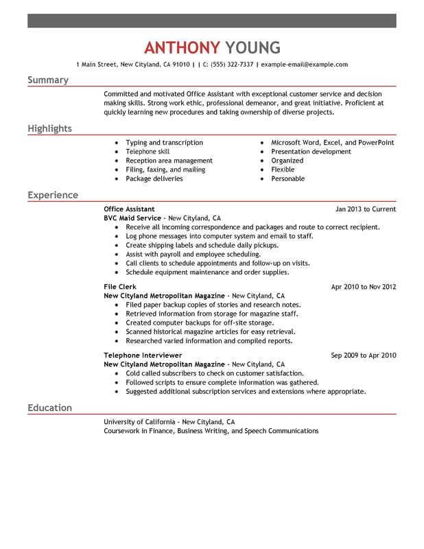 by office skills on resume format for hotel housekeeping supervisor corporate account Resume Office Skills For Resume