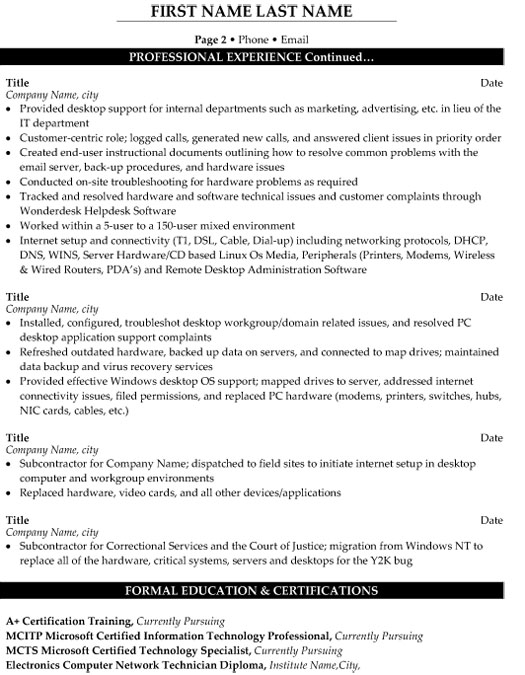 by technical support resume samples format desktop graphic design creative current Resume Desktop Support Resume Samples