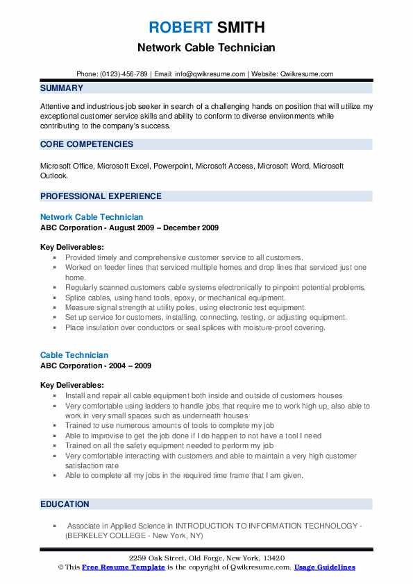 cable technician resume samples qwikresume low voltage sample pdf examples for cover Resume Low Voltage Technician Resume Sample