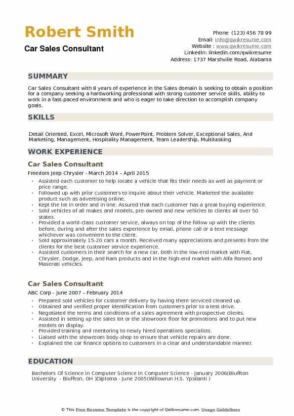 car consultant resume samples qwikresume automobile format for freshers pdf linkedin help Resume Automobile Resume Format For Freshers