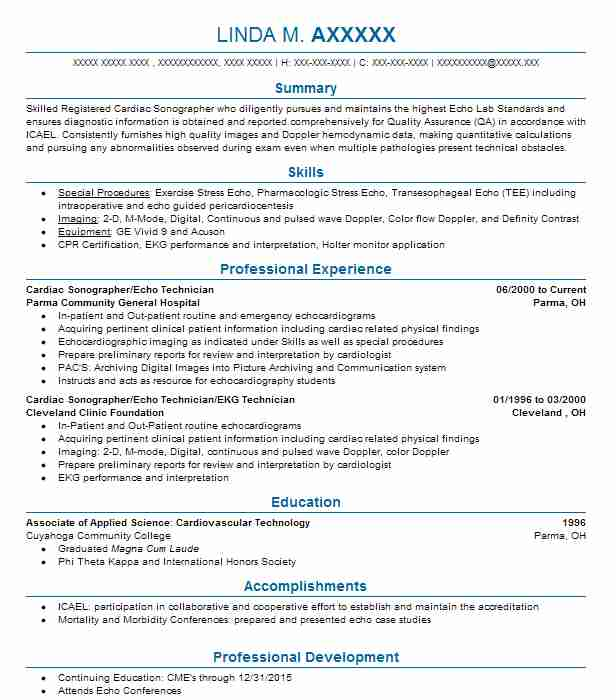 cardiac technician resume example medtronic inc format professional writer job Resume Cardiac Technician Resume Format