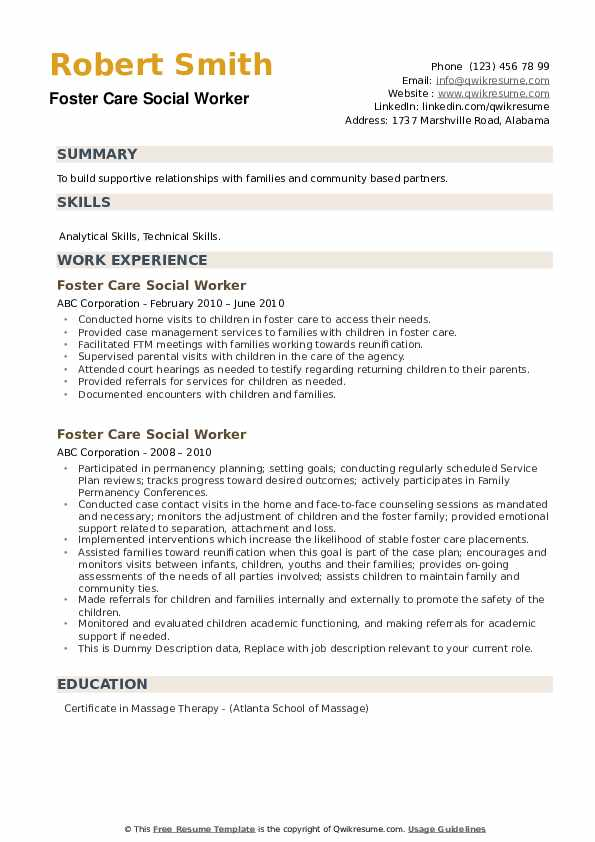 care social worker resume samples qwikresume pdf accounting clerk administrative Resume Foster Care Social Worker Resume