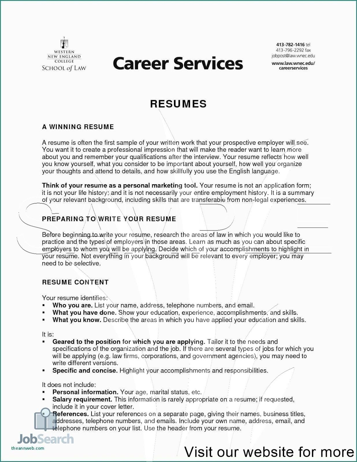 career services resume template free writing in professional samples examples brief Resume Brief Summary Of Your Background For Resume