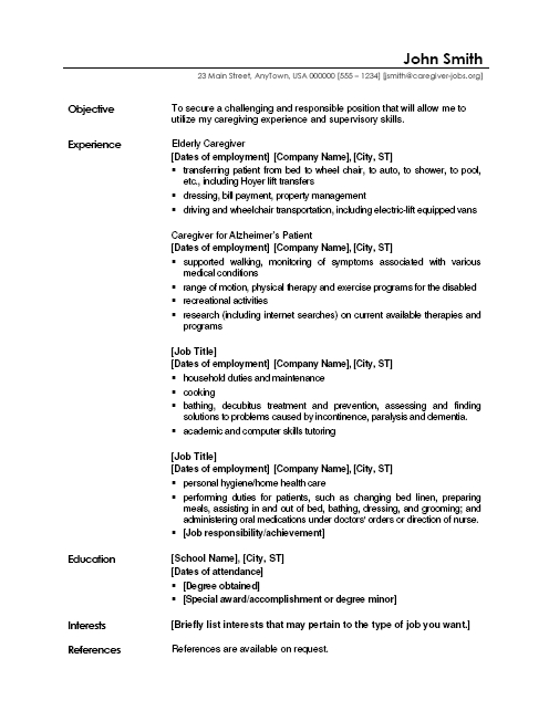 caregiver jobs example of resume samples duties for sample laundry worker unscramble word Resume Duties Of Caregiver For Resume