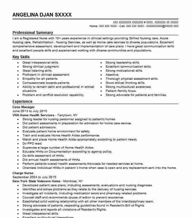 case manager resume example nursing resumes livecareer rn objective examples promoter job Resume Rn Case Manager Resume Objective Examples