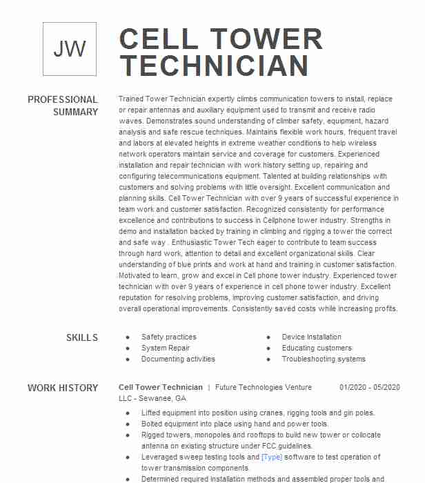 cell tower technician resume example new age wireless traits on fraud analyst cancel nerd Resume Cell Tower Technician Resume