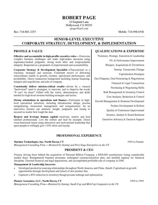 ceo resume example construction president sample executive11a objective phrases for Resume Construction President Resume