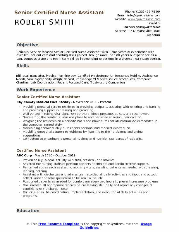 certified nurse assistant resume samples qwikresume entry level nursing pdf example of Resume Entry Level Certified Nursing Assistant Resume