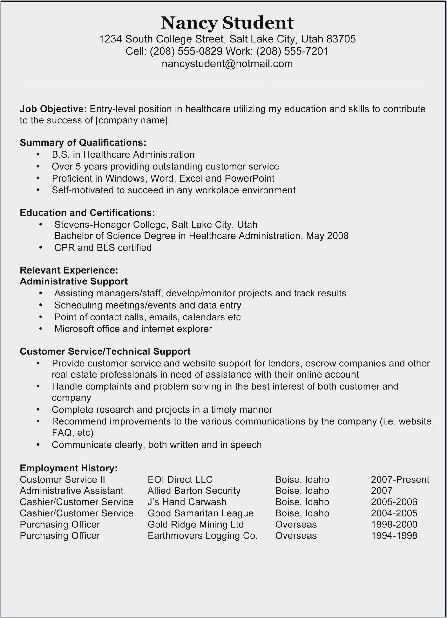 certified nursing assistant resume objective no experience sample for aide without Resume Sample Resume For Nursing Aide Without Experience