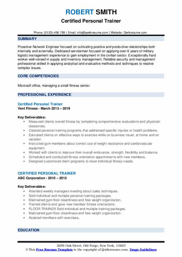 certified personal trainer resume samples qwikresume for gym job pdf fisheries biologist Resume Resume For Gym Trainer Job