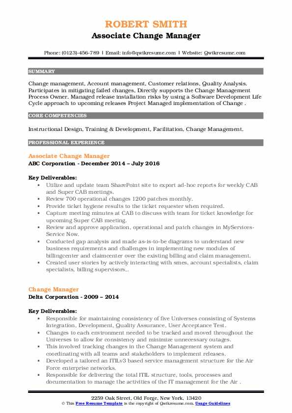 change manager resume samples qwikresume management pdf critique your pool cleaner supply Resume Change Management Resume
