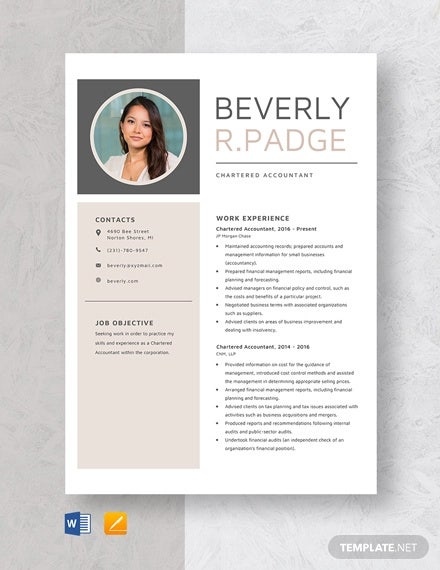 chartered accountant resume template free word pdf documents premium templates format an Resume Chartered Accountant Resume Format Download