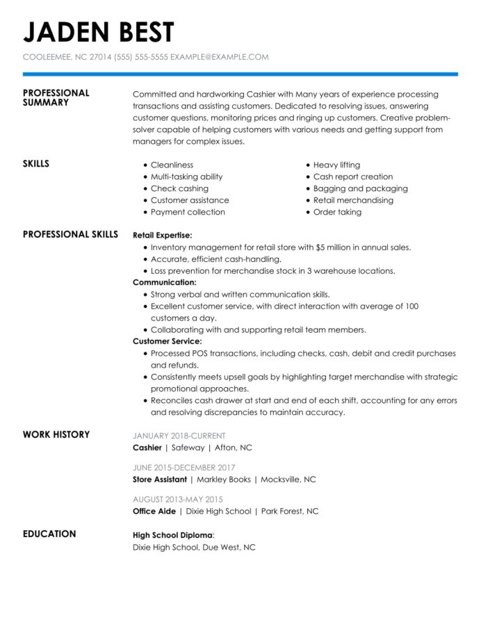 check out the top retail resume examples by myperfectresume job duties for cashier Resume Retail Job Duties For Resume