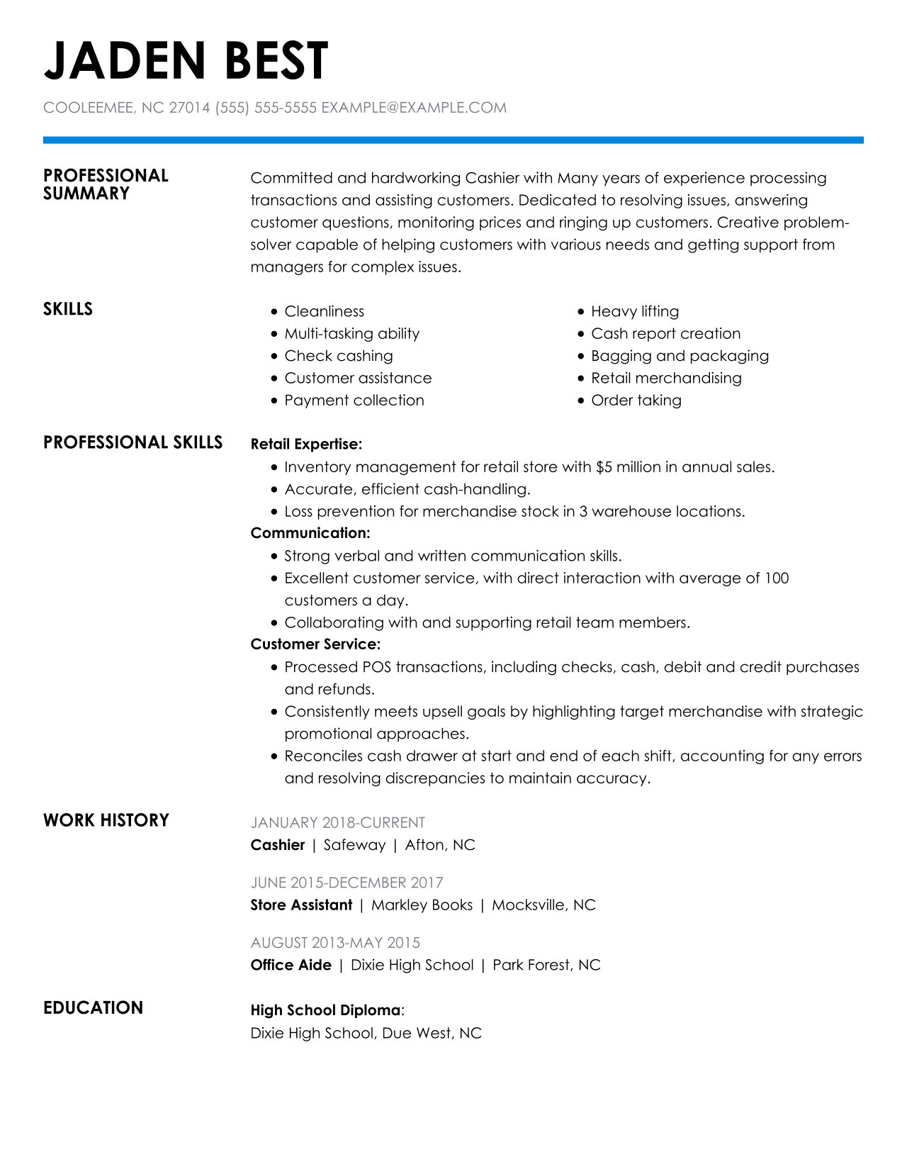 check out the top retail resume examples by myperfectresume profile portion of cashier Resume Profile Portion Of Resume