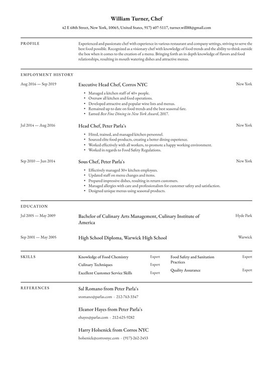 chef resume examples writing tips free guide io responsibilities for sample paralegal Resume Cook Responsibilities For Resume