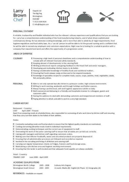 chef resume sample examples sous jobs free template chefs job description work operations Resume Experienced Chef Resume