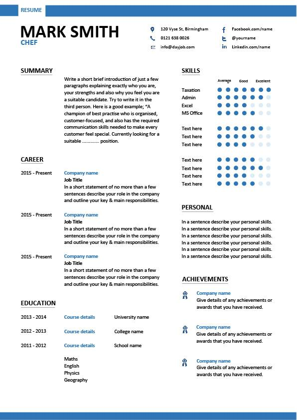 chef resume sample examples sous jobs free template chefs job description work Resume Experienced Chef Resume