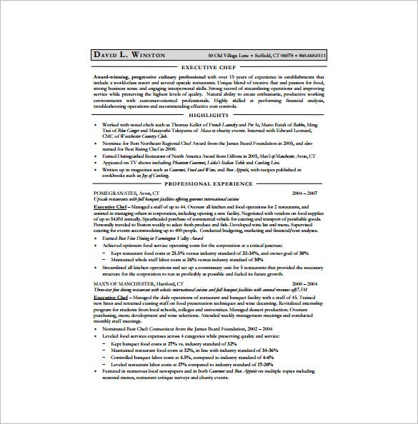 chef resume template free word excel pdf format premium templates experienced executive Resume Experienced Chef Resume